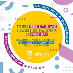 Inscripción 1er Festival Girl Powered LATAM Online - 2021